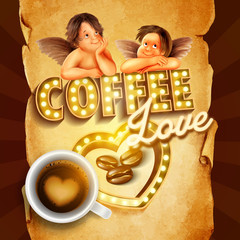 coffee love angels heart