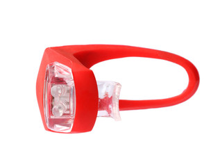 Bicycle tail light isolated on white background