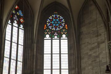 Stephansdom colored window