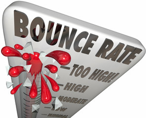 Bounce Rate Words Thermometer Measure Online Visitor Abandon Lev