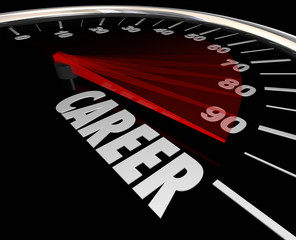 Career Word Speedometer Advancement Job Promotion Work