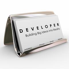 Developer Business Cards Builder Software Application Programmer