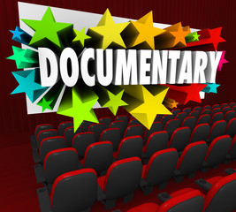 Documentary Word Movie Screen Non Fiction Story Film Cinema