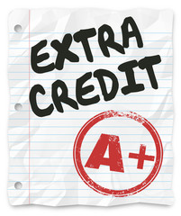 Extra Credit Added Points Results Graded School Paper Homework
