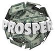 Prosper 3d Word Money Cash Ball Improve Income Earnings