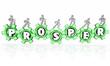 Prosper Word Gears Earning Money Company Business Working to Suc