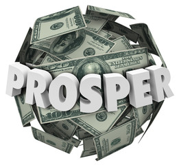 Prosper 3d Word Money Cash Ball Improve Income Earnings