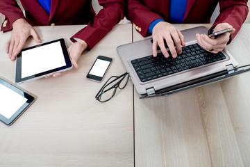 Using different digital gadgets