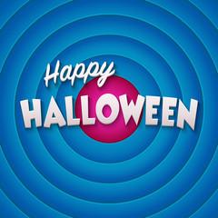 Movie ending screen with Happy Halloween label. Vector