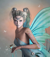 Little blue fairy