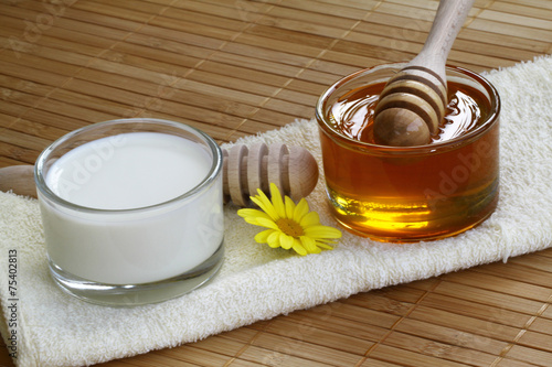 canvas print picture Milch und Honig