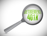 retirement 401k under review poster