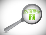 retirement ira magnify glass review poster