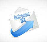 retirement IRA email message illustration poster
