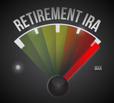 retirement ira speedometer illustration poster