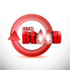 donate blood concept illustration