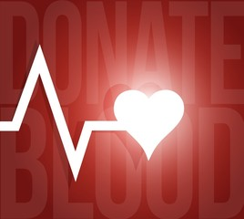 donate blood lifeline heart illustration