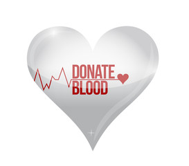 donate blood heart concept illustration
