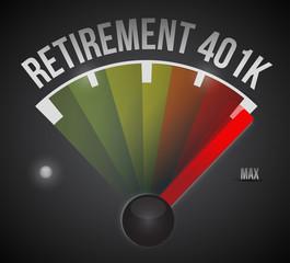 retirement 401k speedometer illustration