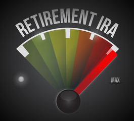 retirement ira speedometer illustration