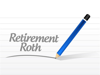 retirement roth message sign