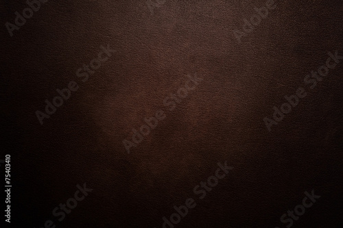 Luxury dark brown leather background - 75403410