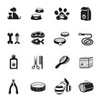 B&W icons set : Pet, Cat & Dog Object - 75405496