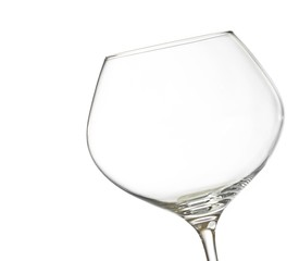 empty white wine into a glass with space for text