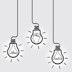Bulb with Idea & Creative Concept