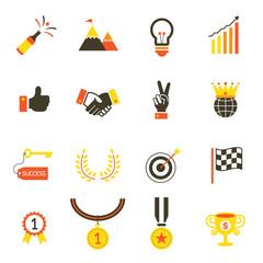 Icons set : Success, Award Object