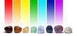 canvas print picture - Chakra Healing Crystals Colour Chart