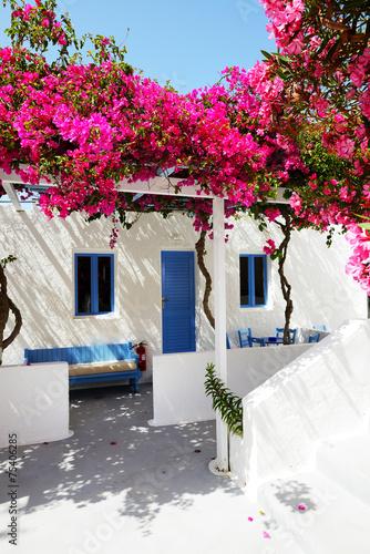 Building of hotel in traditional Greek style, Santorini island, © slava296