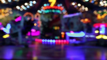 carousel on amusement park