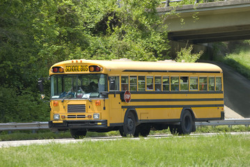 School Bus On Field Trip