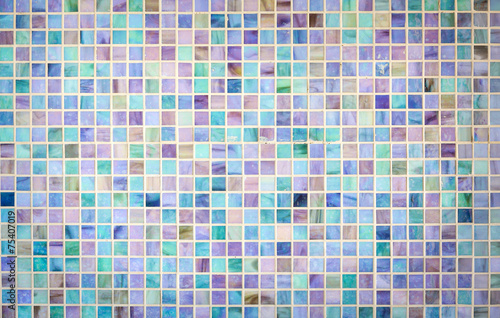 Colorful mosaic glass tile wall - 75407019