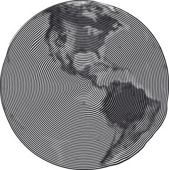 Guilloche Earth Uzumaki