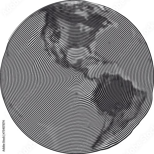 Guilloche Earth Uzumaki - 75407874