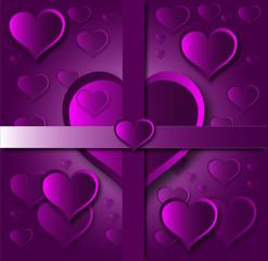 purple hearts card