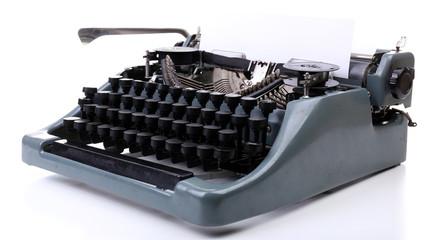 Antique Typewriter. Vintage Typewriter Machine, isolated
