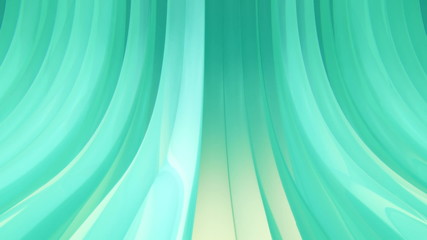 3D Looping Background - Teal shimmering bows