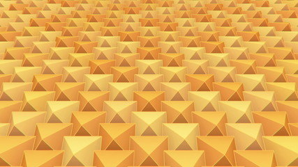 3D Looping Background - Elastic pyramid grid
