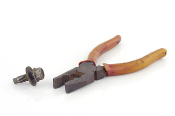 nut and tongs