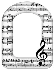 Music Notes Picture Frame, treble clef, copy space, music events