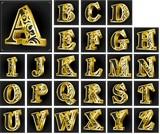 3Dテキスト-アルファベット大文字-