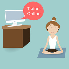 female are training fitness with Trainer Online