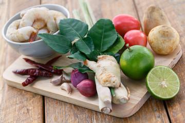 Ingrédients pour Tom Yum Soup, Thailande