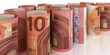 10 Euro gerollt