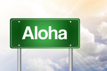Aloha Green Road Sign concept