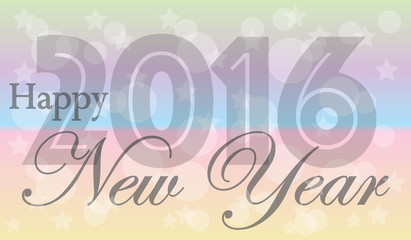 Happy new year 2016 header or banner
