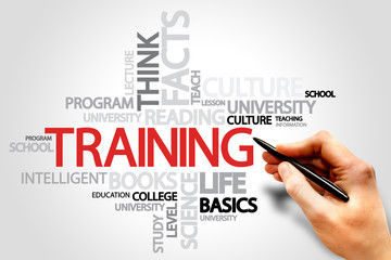 Training word cloud, business concept